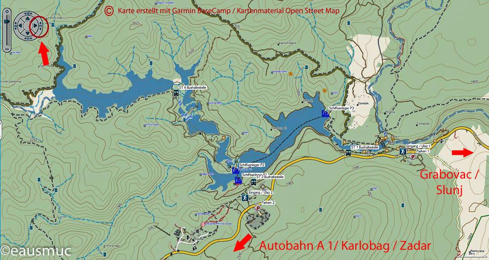 Nationalpark Plitvicer Seen Karte.Plitvicer Seen